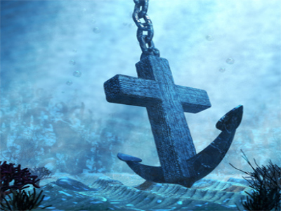 The Bible as a strong anchor in a deep ocean.