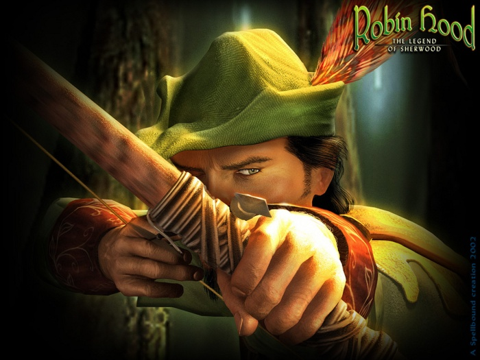 Robin Hood with his green hat.